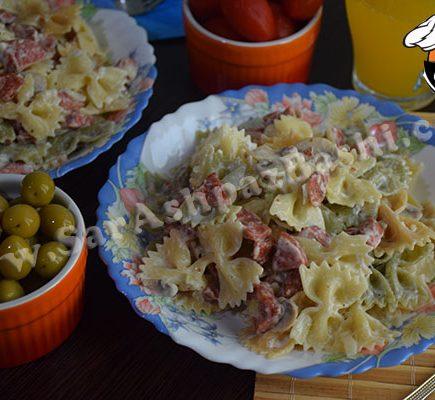 پاستا سوسیس و قارچ (۲)