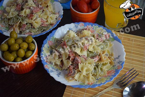 پاستا سوسیس و قارچ (۳)