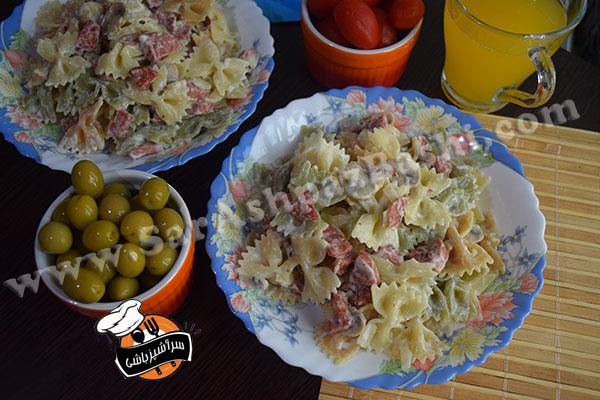 پاستا سوسیس و قارچ (۴)