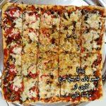 پیتزا با خمیر پای مارپیچ مهساپیتزا با خمیر پای مارپیچ مهسا