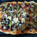 پیتزا با خمیر پیتزا میگو مریم