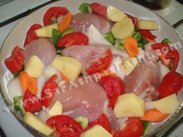 چیدن سبزیجات