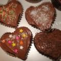 کاپ کیک شکلاتی قلبی