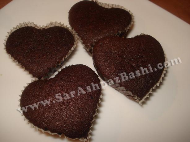 کاپ کیک قلبی