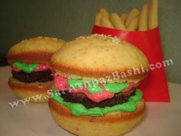 کاپ کیک همبرگر
