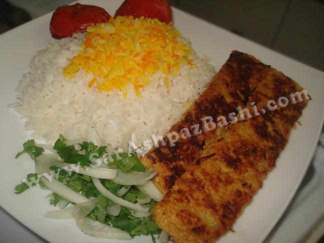 کباب تابه ای مرغ