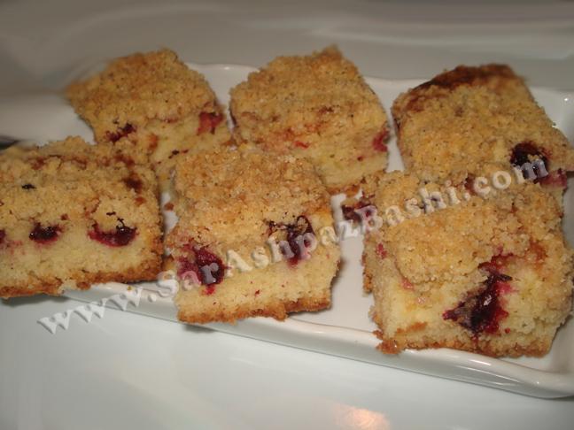 کرامب کیک آلبالو