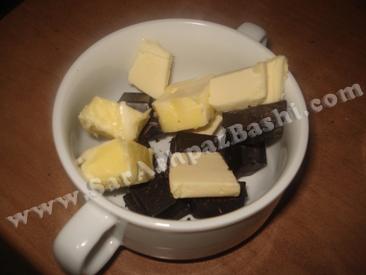 کره و شکلات خرد شده