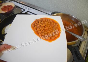 کشیدن خوراک لوبیا
