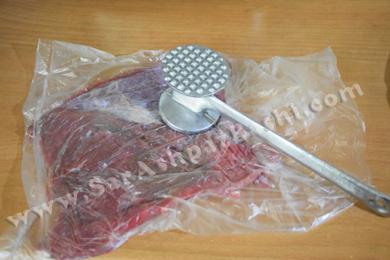 کوبیدن گوشت راسته