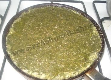 کوکو سبزی در تابه
