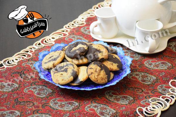 کوکی شکلات و کره بادام زمینی