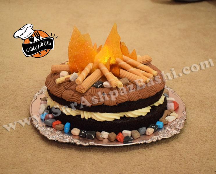 کیک آتش