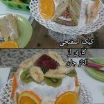کیک اسفنجی الناز۳
