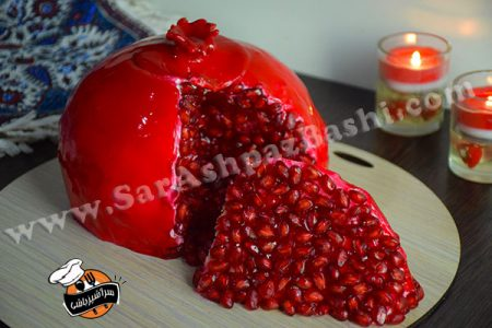 کیک انار یلدا (۴)