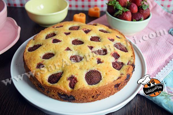 کیک توت فرنگی (۳)