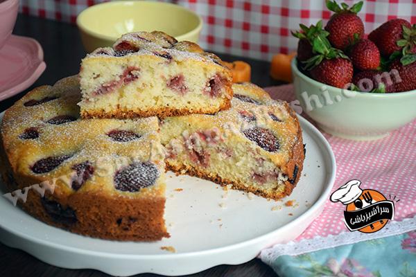 کیک توت فرنگی (۵)