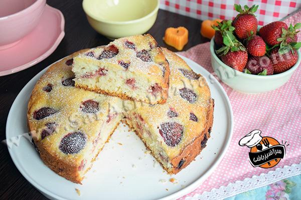کیک توت فرنگی (۸)