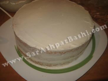 کیک خامه کشی شده