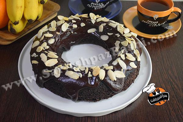 کیک شکلات و بادام (۲)