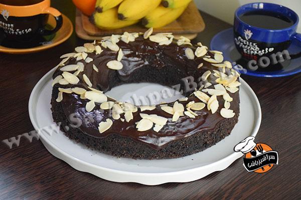 کیک شکلات و بادام (۳)