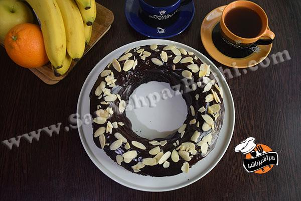 کیک شکلات و بادام (۴)
