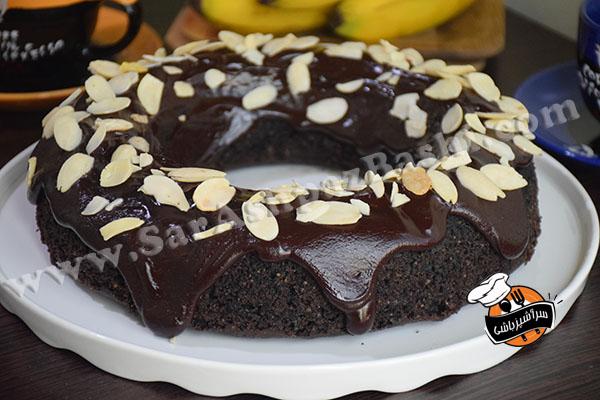 کیک شکلات و بادام (۵)