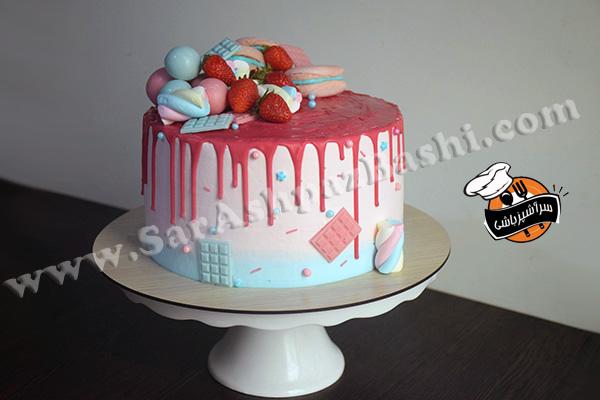 کیک شیفون تزیین شده (۳)