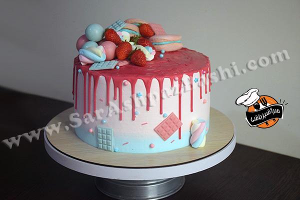 کیک شیفون تزیین شده