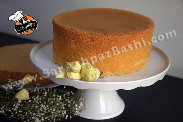 کیک شیفون وانیلی (۲)