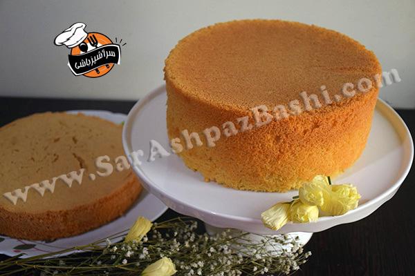 کیک شیفون وانیلی (۳)