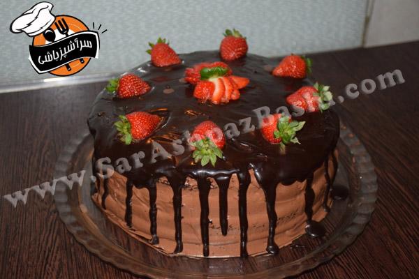 کیک موس شکلات