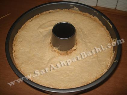 کیک پخته