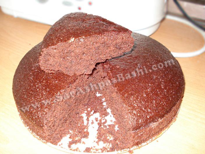 کیک کاکائویی بدون تخم مرغ