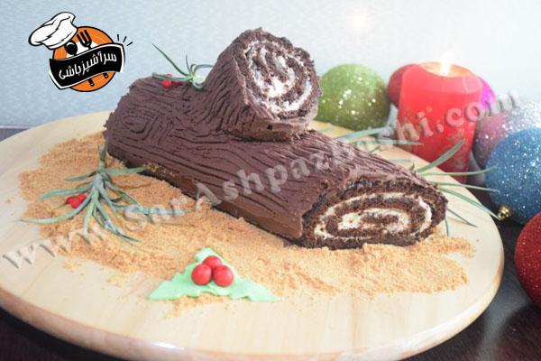 کیک کنده ی درخت