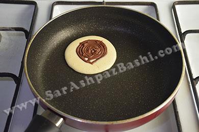 گذاشتن دیسک شکلاتی