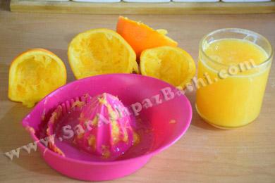 گرفتن آب پرتقال