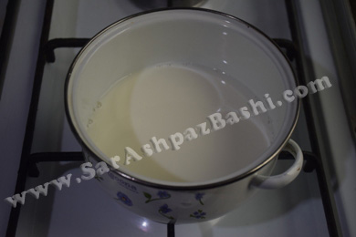 گرم کردن شیر