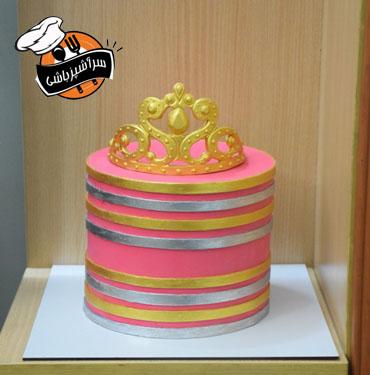 کیک پرنسس صورتی