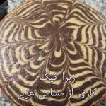 زبرا کیک مسامی
